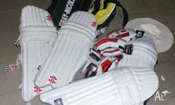 2 x sets of Pads 2 x sets of Gloves Box Hat Shoes size