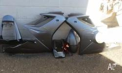 UP FOR SALE IS A COMPLETE SET OF FAIRINGS FOR A 2007