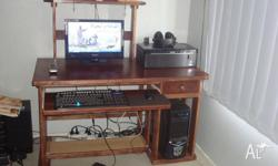 HI EVERY ONE, IM OFFERING YOU MY COMPUTER DESK MAD BY