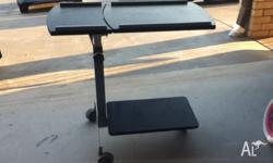 Small moving computer desk, good condition.