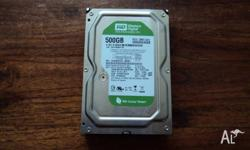 Computer sata hardrive 500 gig good condition 3.5 inc