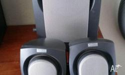 three sets of Altec Lansing computer speakers for sale
