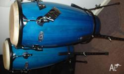 Congas (2)n As New.Brand Is Synergy. Electric Blue in