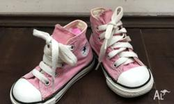 Up for sale are a pair of Converse toddler shoes, size