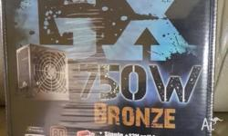 Brand New Sealed Cooler Master GX 750w Bronze Power