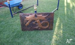 FOR SALE HAND MADE ON COPPER BOARD DRAGON BEAUTIFULLY