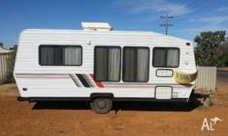 Nice Caravan for quick Sale with 2 beds in front the