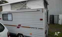selling a coromel pop top (pop up) caravan , with the