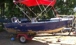 4.4m boat with 40hp 2 stroke comes with life jackets,