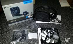 A Corsair Hydro Series H90 140mm Watercooler up for