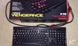 Selling a 2 month old Corsair K70 mechanical keyboard.