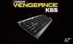 Corsair Vengeance K65 keyboard. Lighlty used. Presented