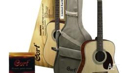 Cort Earth 60 Steel String Guitar Pack Pack includes: -