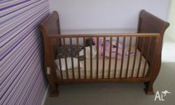 For sale is VERY HIGH QUALITY Wooden cot and matchng