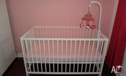 Beautiful IKEA Cot and Matress in excellent MINT