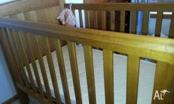 Beautiful, safe nursery cot and toddler bed. Some minor