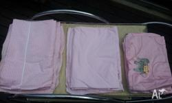 I have 2 x cot sets (fitted & flat sheet), and 1 x