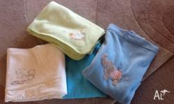 3 x Cot blankets for a boy Pick up in Queanbeyan