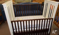 134035 - Cot - (Converts to Toddler Bed) & Mattress -