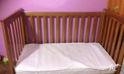 Cot/Toddler Bed. Includes Mattress and a mattress