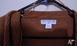 COTTON ON KNIT CARDIGAN, SIZE XS. BRAND NEW