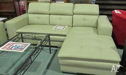 Couch with Chaise Leather Instore Price $1799 All items