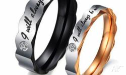 "COUPLE'S COMMITMENT RING. INSCRIBED WITH ""I WILL ALWAYS"