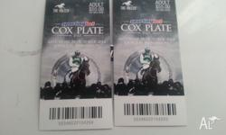 I have two 2014 Cox Plate day general admission tickets