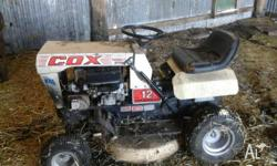 12 horse power Ride on mower Good condition for age .