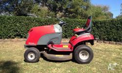 "Cox 13hp ride on mower, 32"" cut 5 years old excellent"