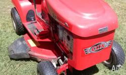 Cox ride on mower, only 4 years old. Excellent