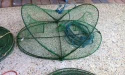 I have 4 crab pots and 2 crab dillies for sale. All are