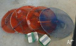 4 x crab pots in good used condition (3 orange with