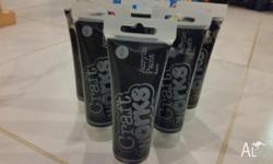 6 x Craftwords Acrylic Paint, 120ml tubes. Black paint.