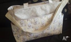 Beautiful Bear print nappy bag. Never used. Mother