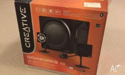Creative Gigaworks T3 2.1 Speaker Set Comes with