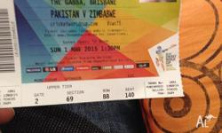 HI, i have for sale ticket for sale. cricket icc world