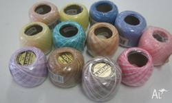 CROCHET COTTON ANY 10 BALLS FOR $15 WE HAVE A FEW ONLY