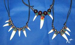 From the land of the INCAS CROCODILE TOOTH PENDANT