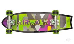 Street Crusier Skateboard features: 7ply Canadian Maple