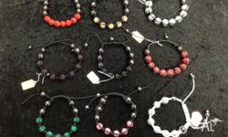 Brand new adjustable crystal ball beaded bracelets,