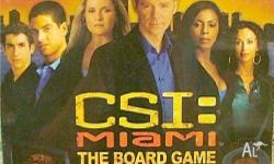 CSI Miami board game - $10.00 Used only once and in