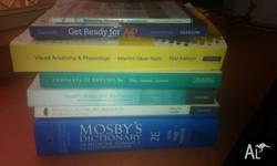 Textbooks are in good used or new condition from a