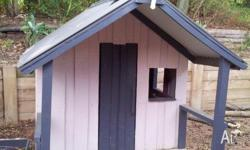Kids cubby house made from permapine with new colorbond