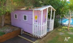 Hand-made cubby house for our little princess, but