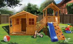 NEW: Cubby houses and accessories for kids. Pre-cut