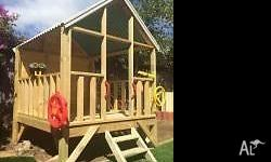 Awesome cubby house fort. All walls supplied in pre