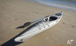 This plastic ocean kayak is durable and lightweight for