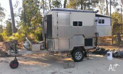 Camper trailer made from alloy including chassy and