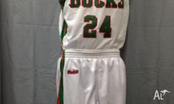 Totally custom made basketball jerseys and uniforms.